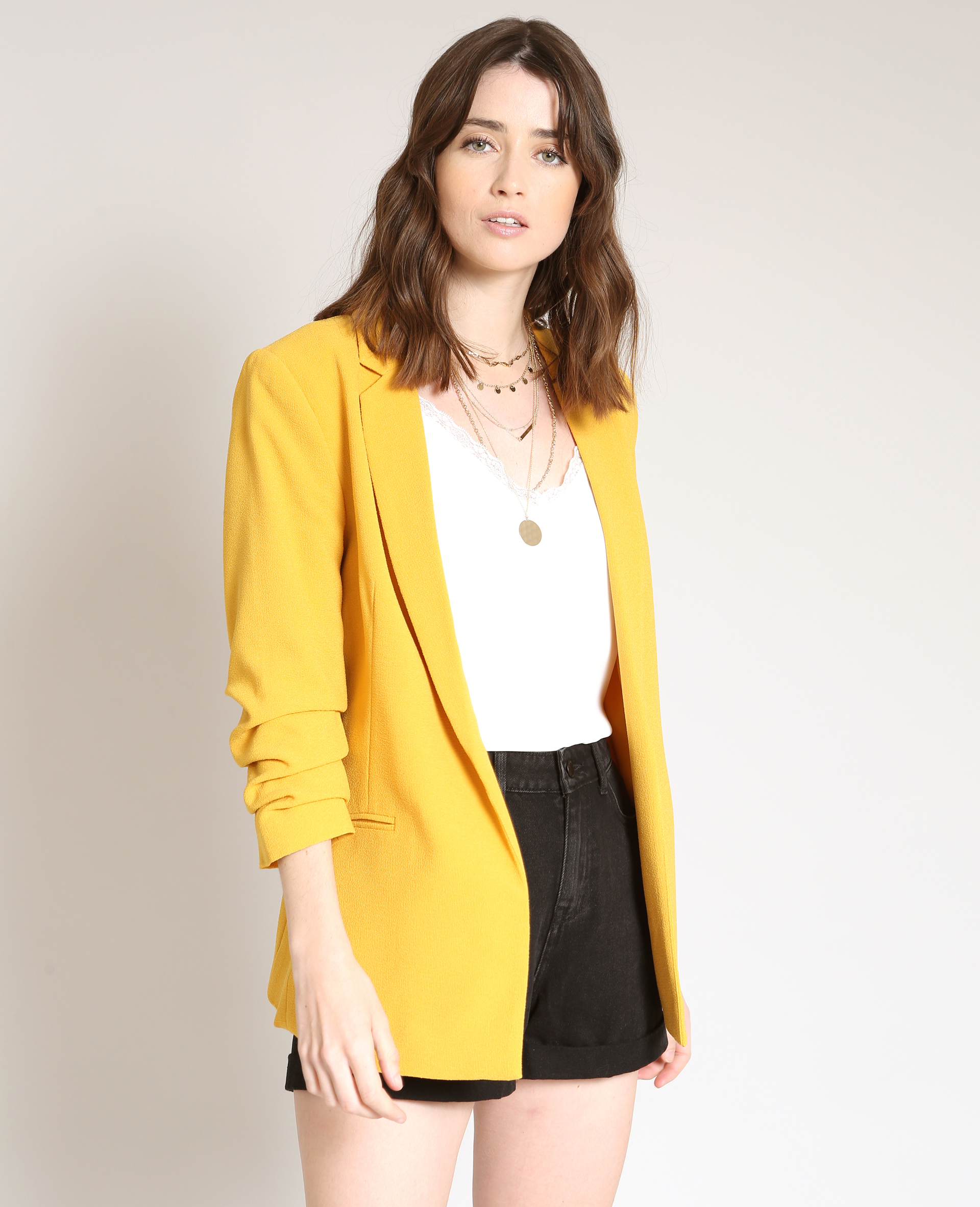 Veste jaune femme pimkie