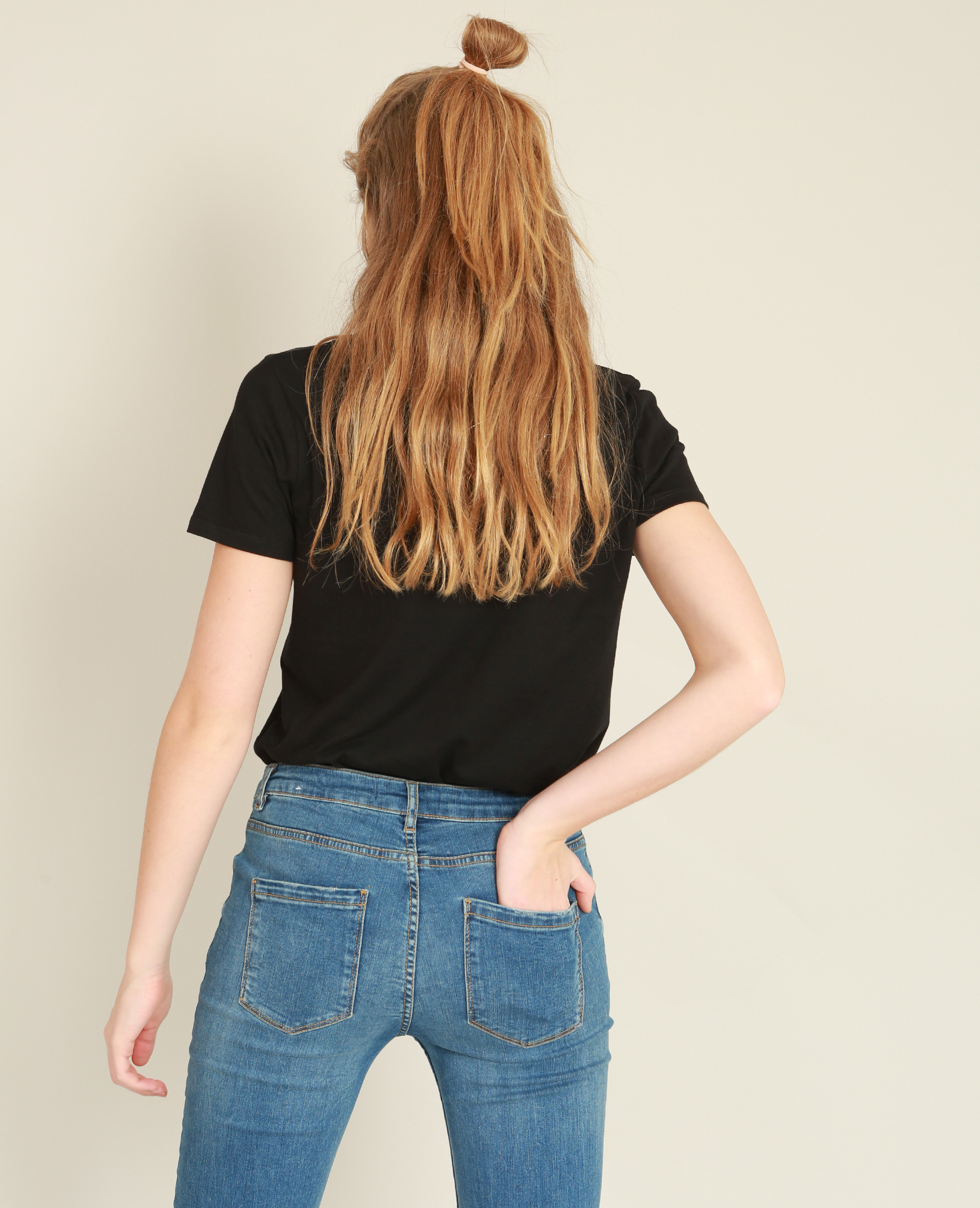 T-shirt brodé noir - Pimkie