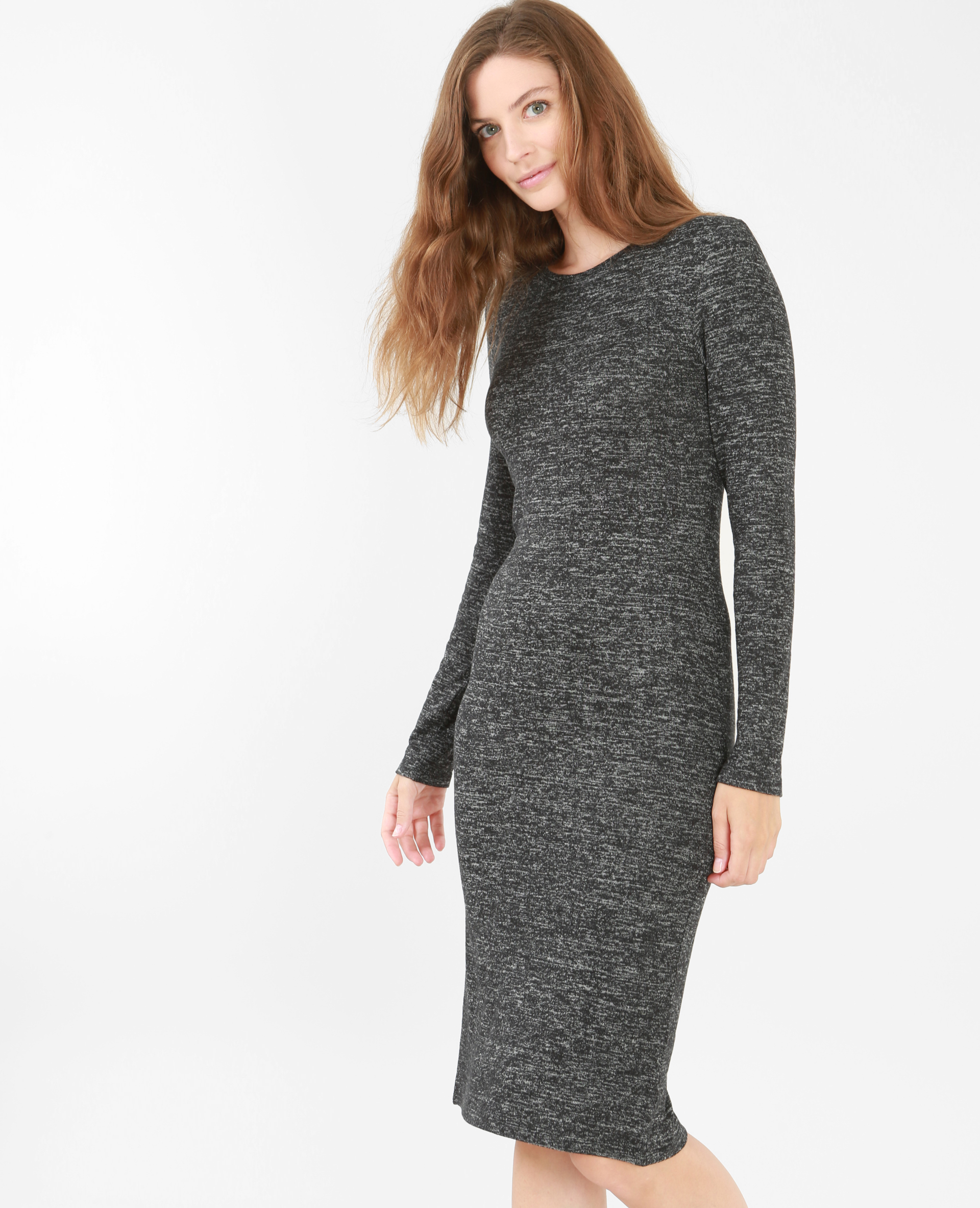 Robe pull grise laine