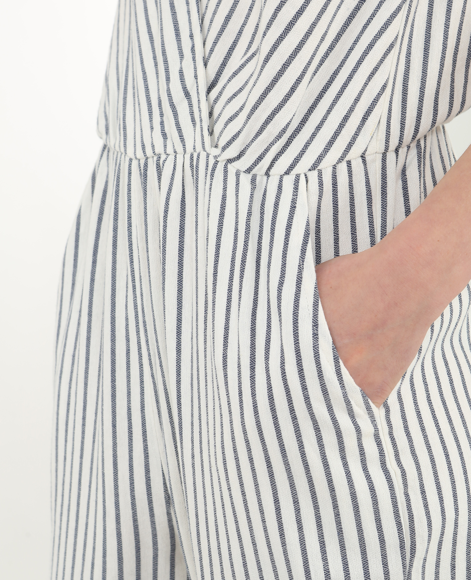 Combi-pantalon rayée blanc cassé - Pimkie