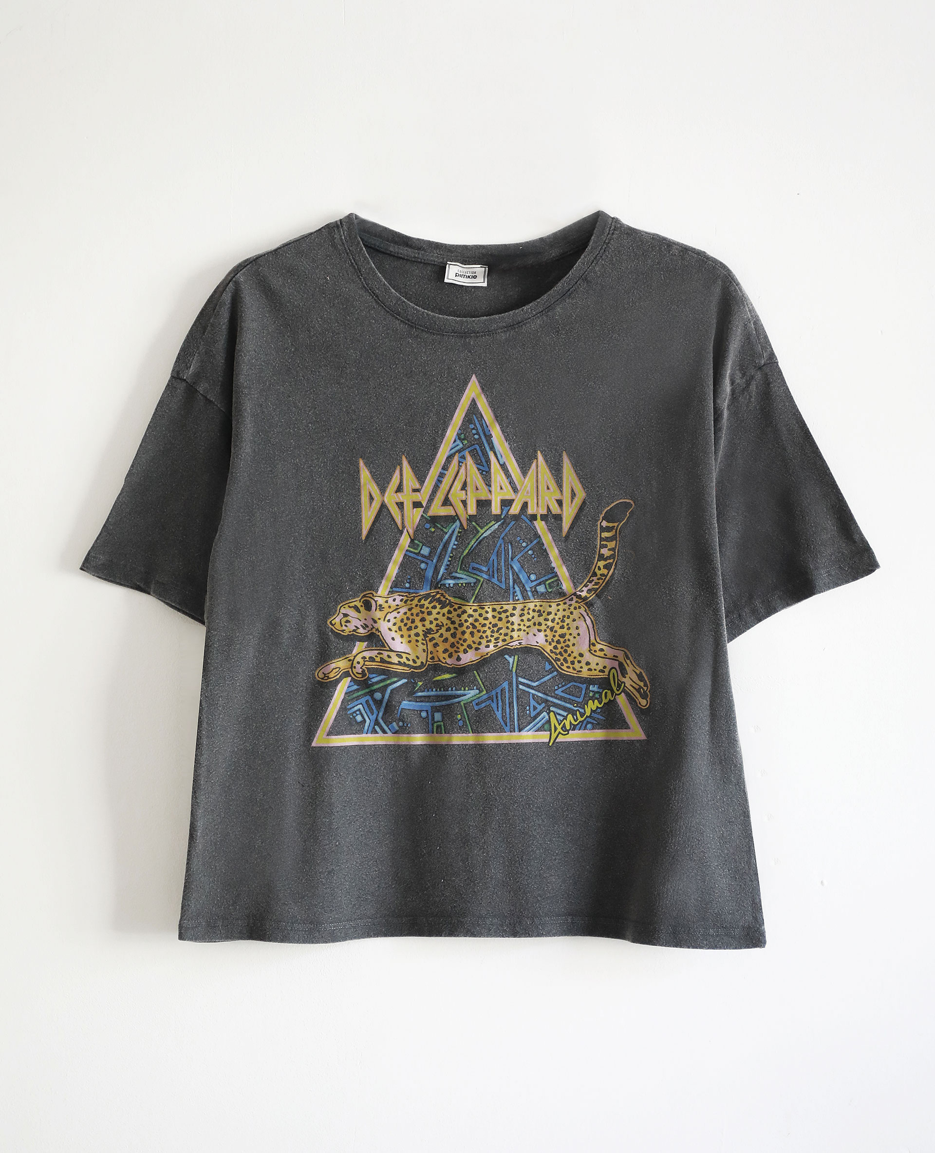 T-shirt Def Leppard gris anthracite - Pimkie