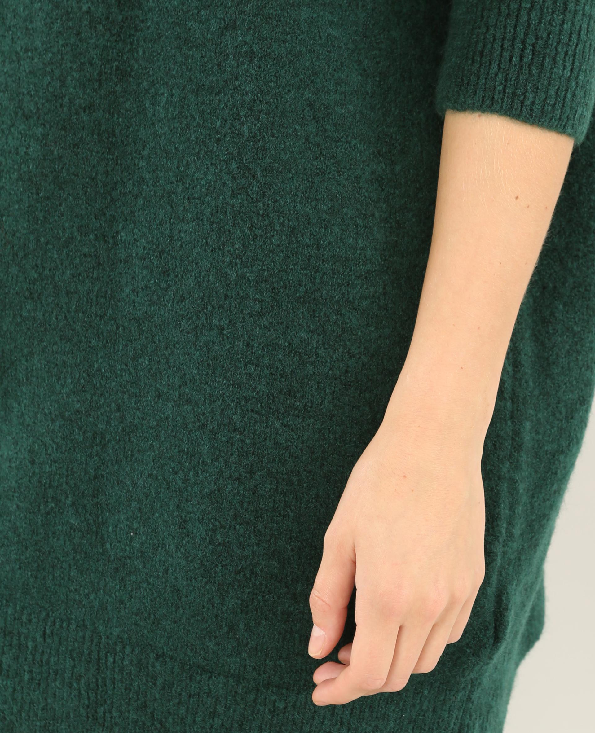 Robe pull col roulé vert - Pimkie