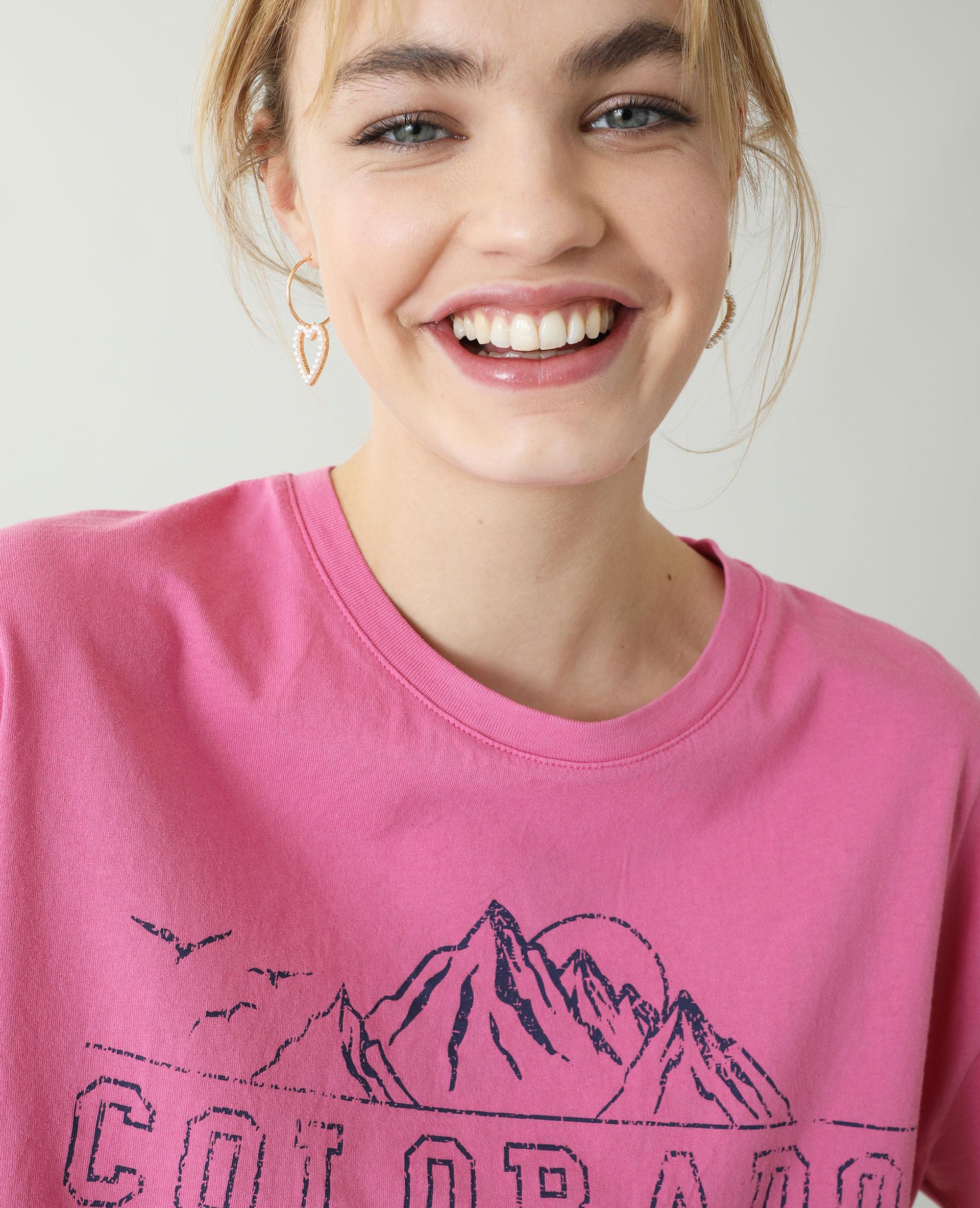T-shirt cropped rose - Pimkie