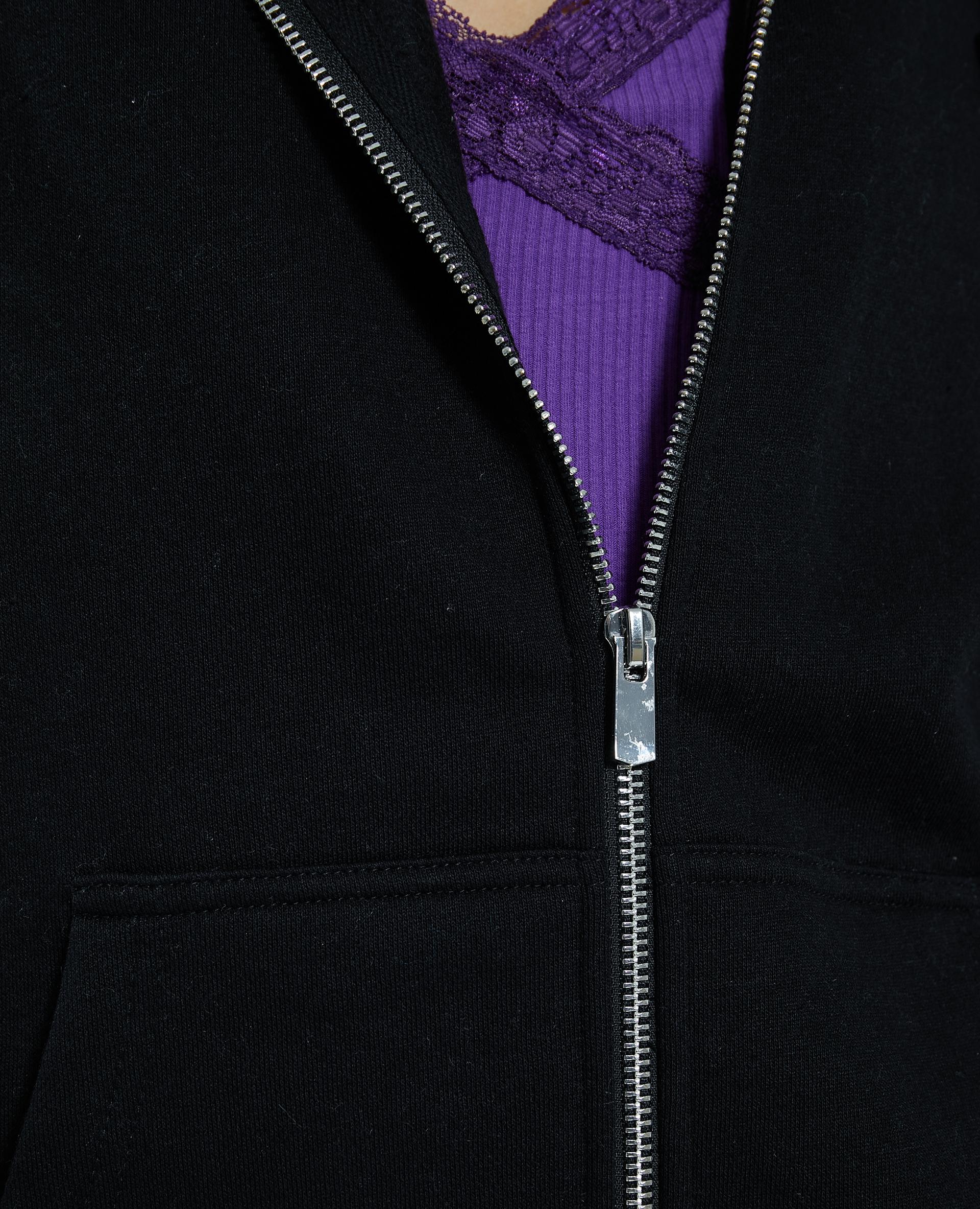 Gilet zippé à capuche noir - Pimkie