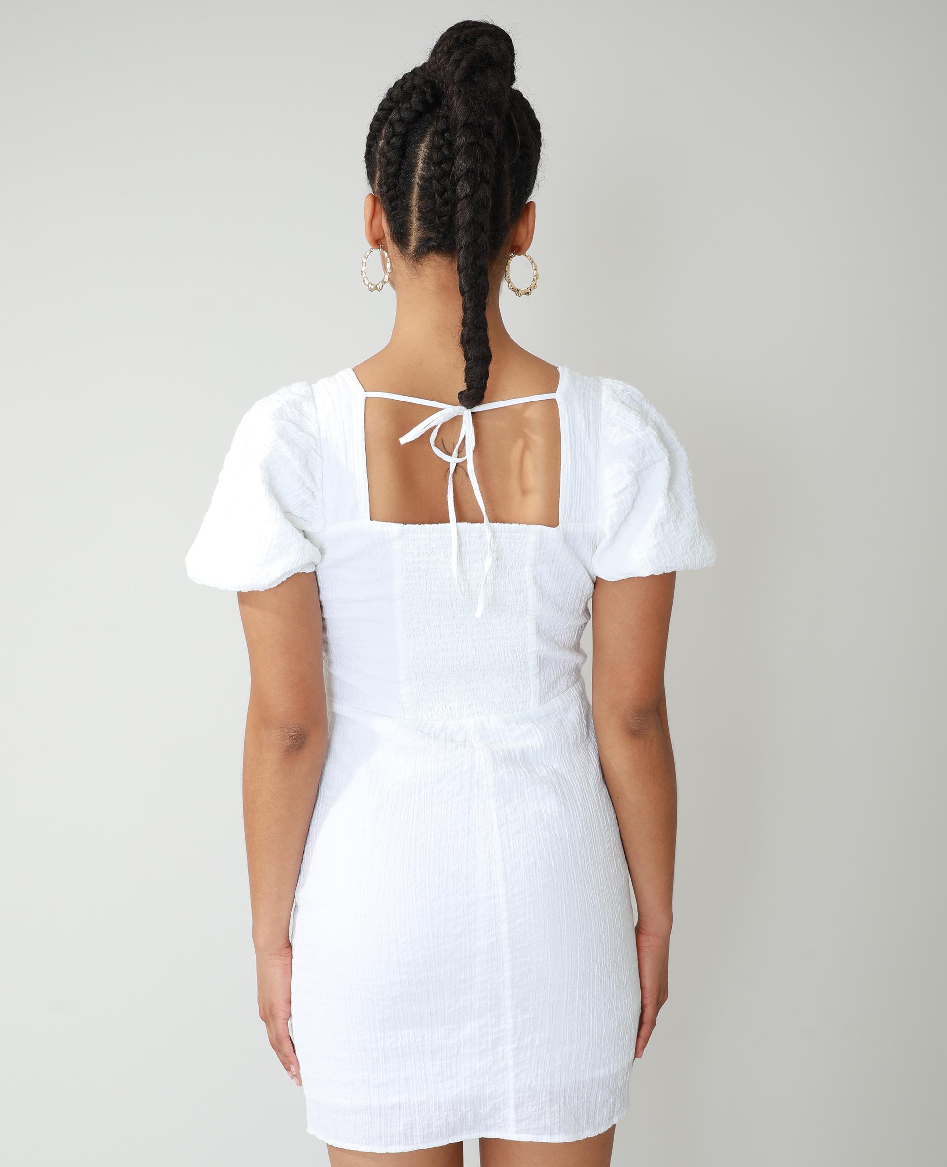 Robe texturée blanc cassé - Pimkie