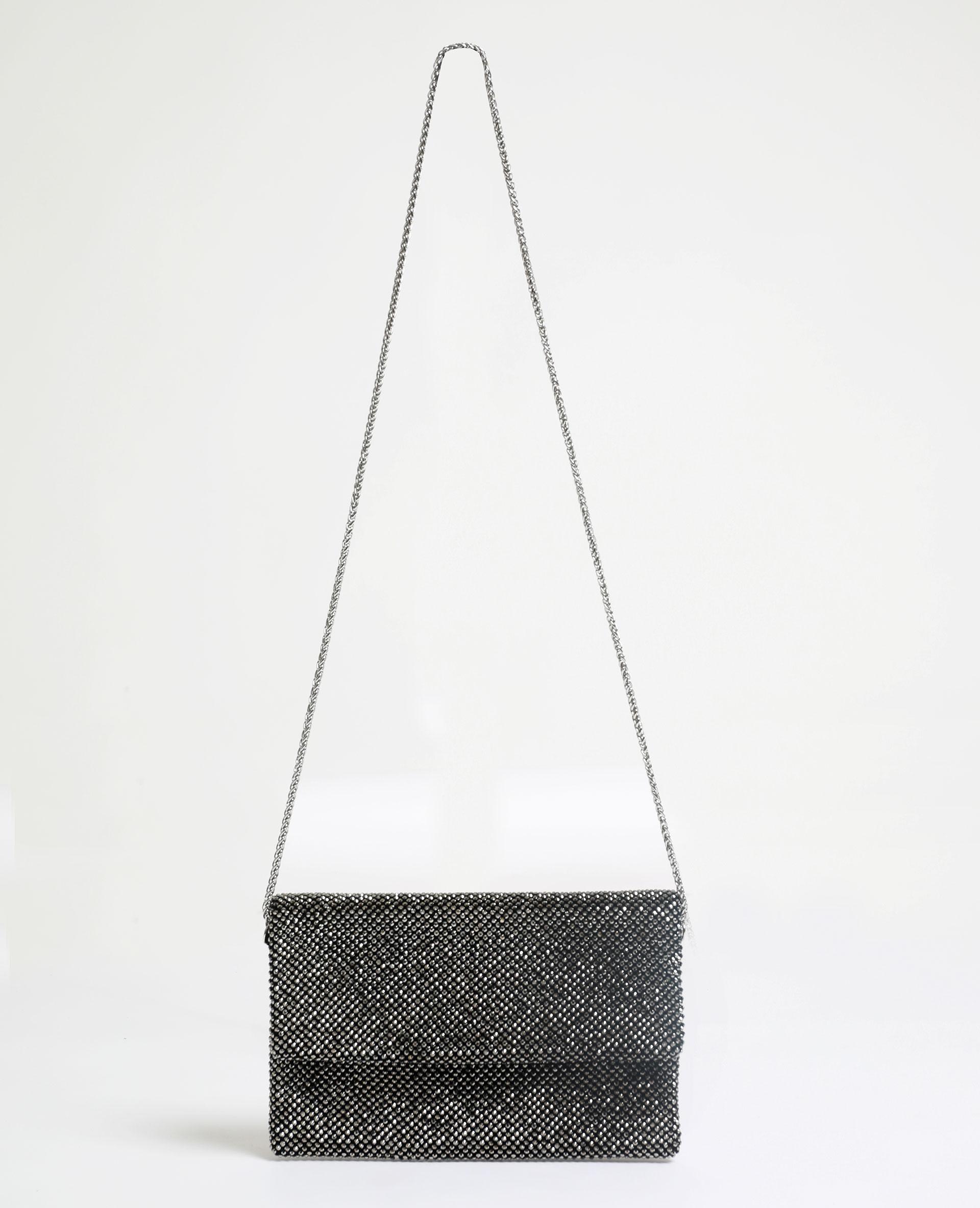Pochette à strass gris - Pimkie