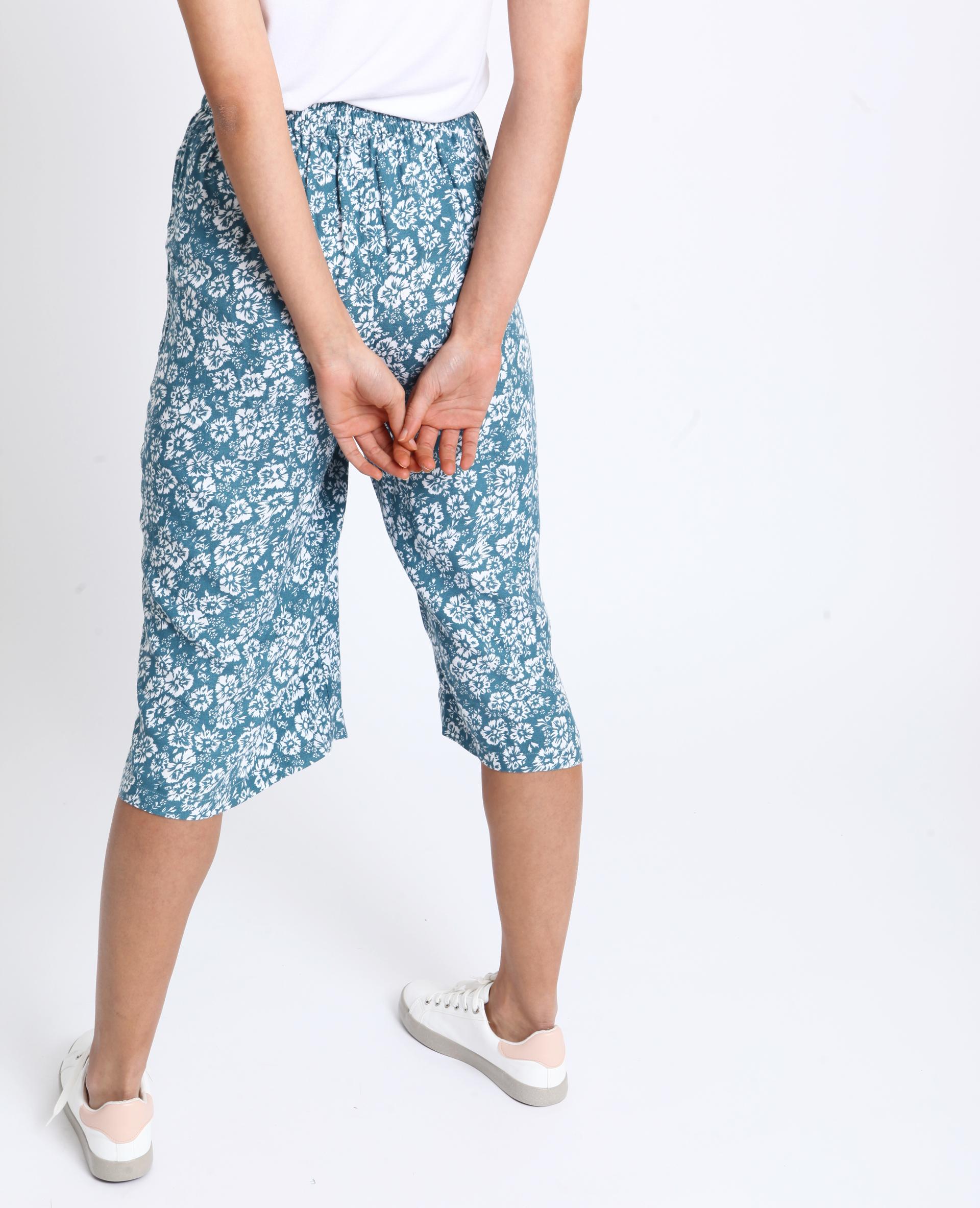 Jupe culotte à fleurs blanc - Pimkie