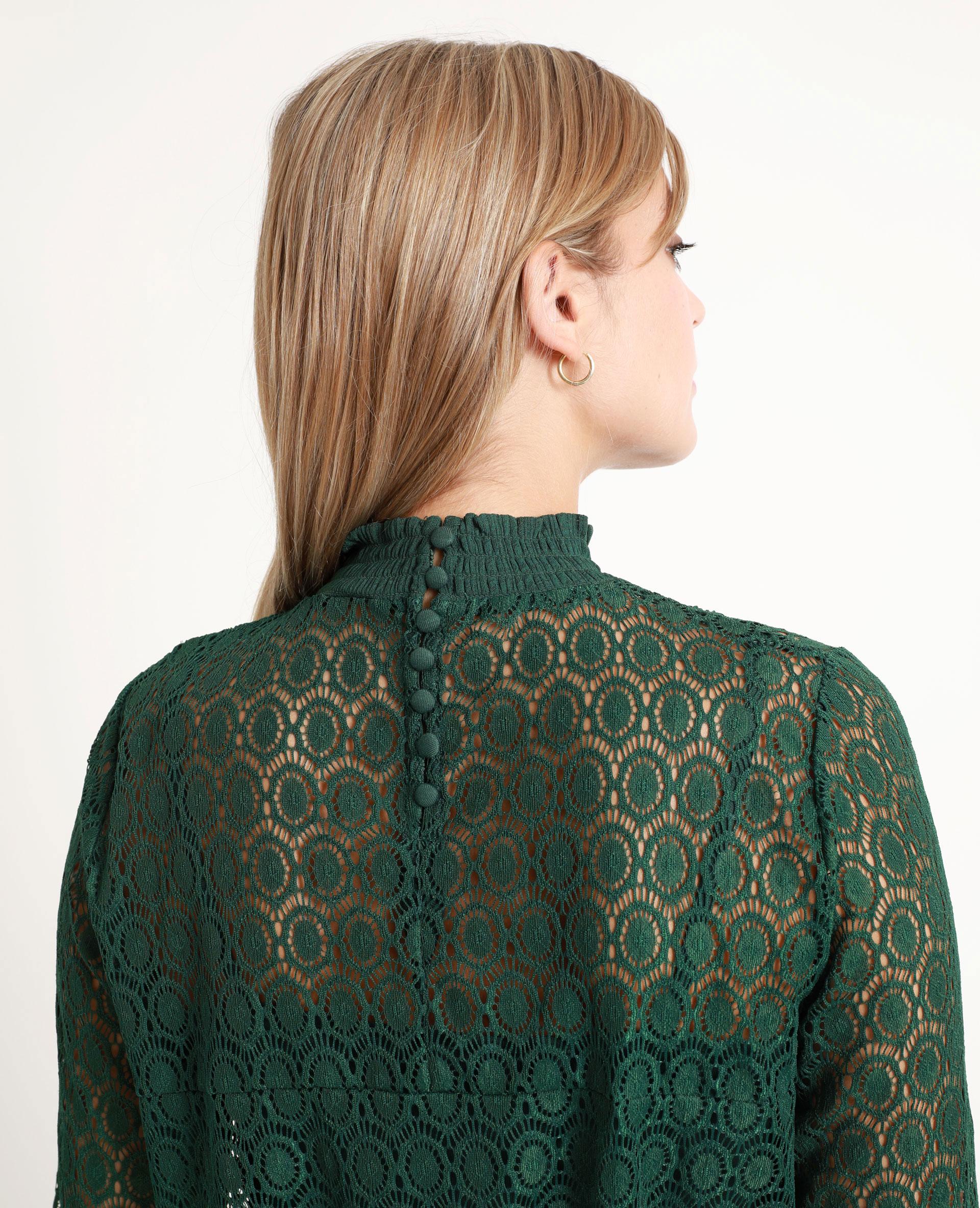 T-shirt en dentelle vert - Pimkie
