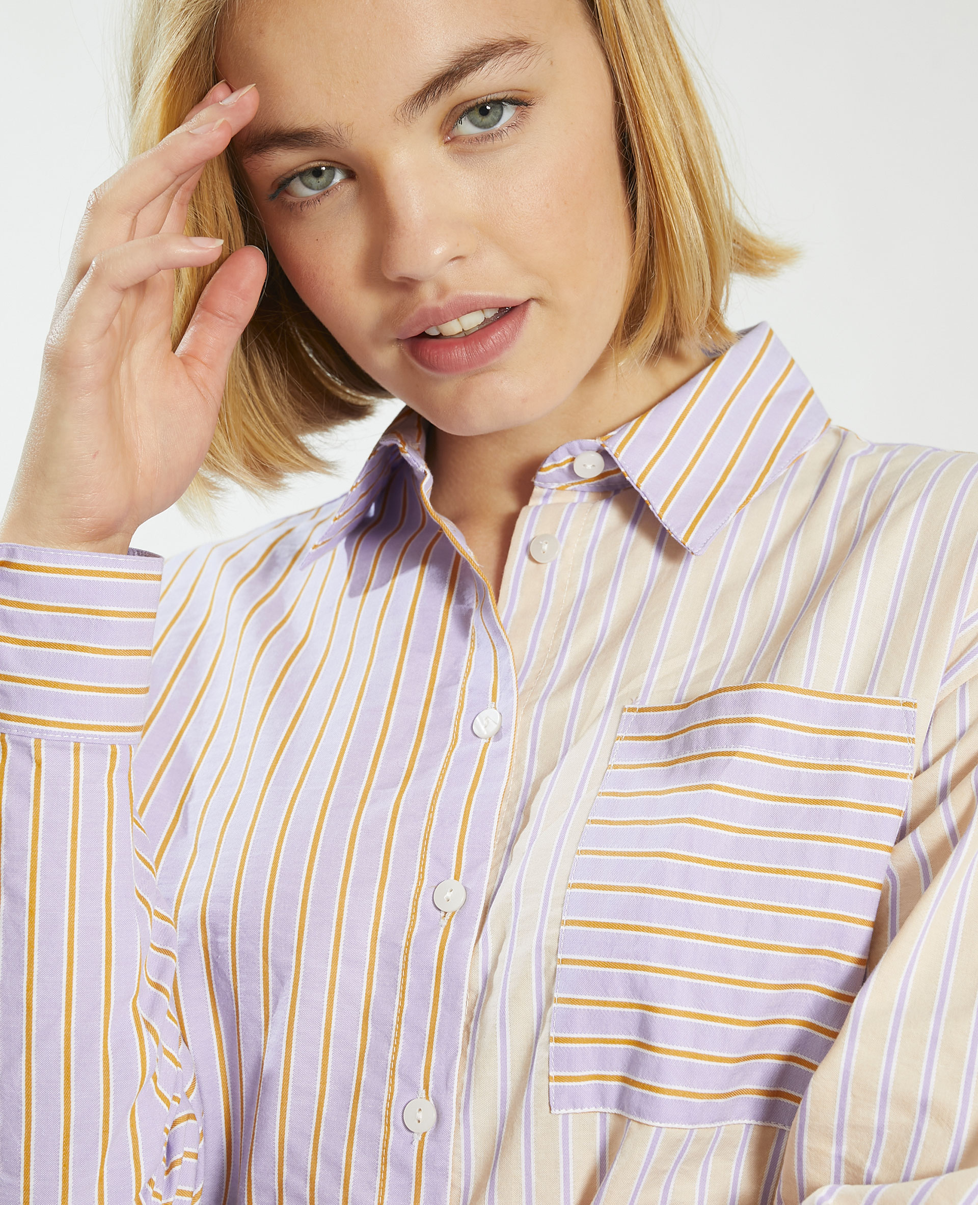 Chemise rayée violet - Pimkie