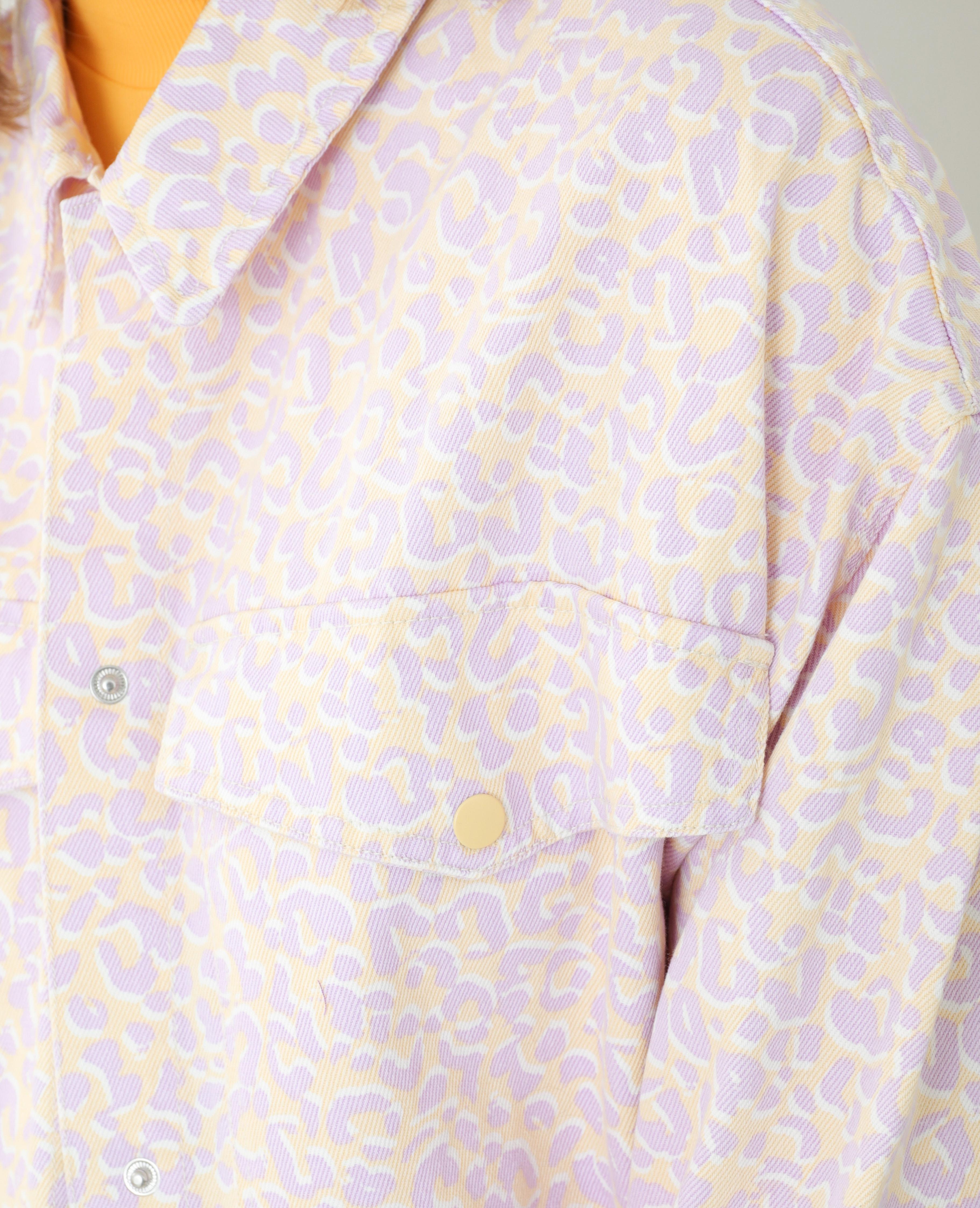 Surchemise en jean léopard violet - Pimkie