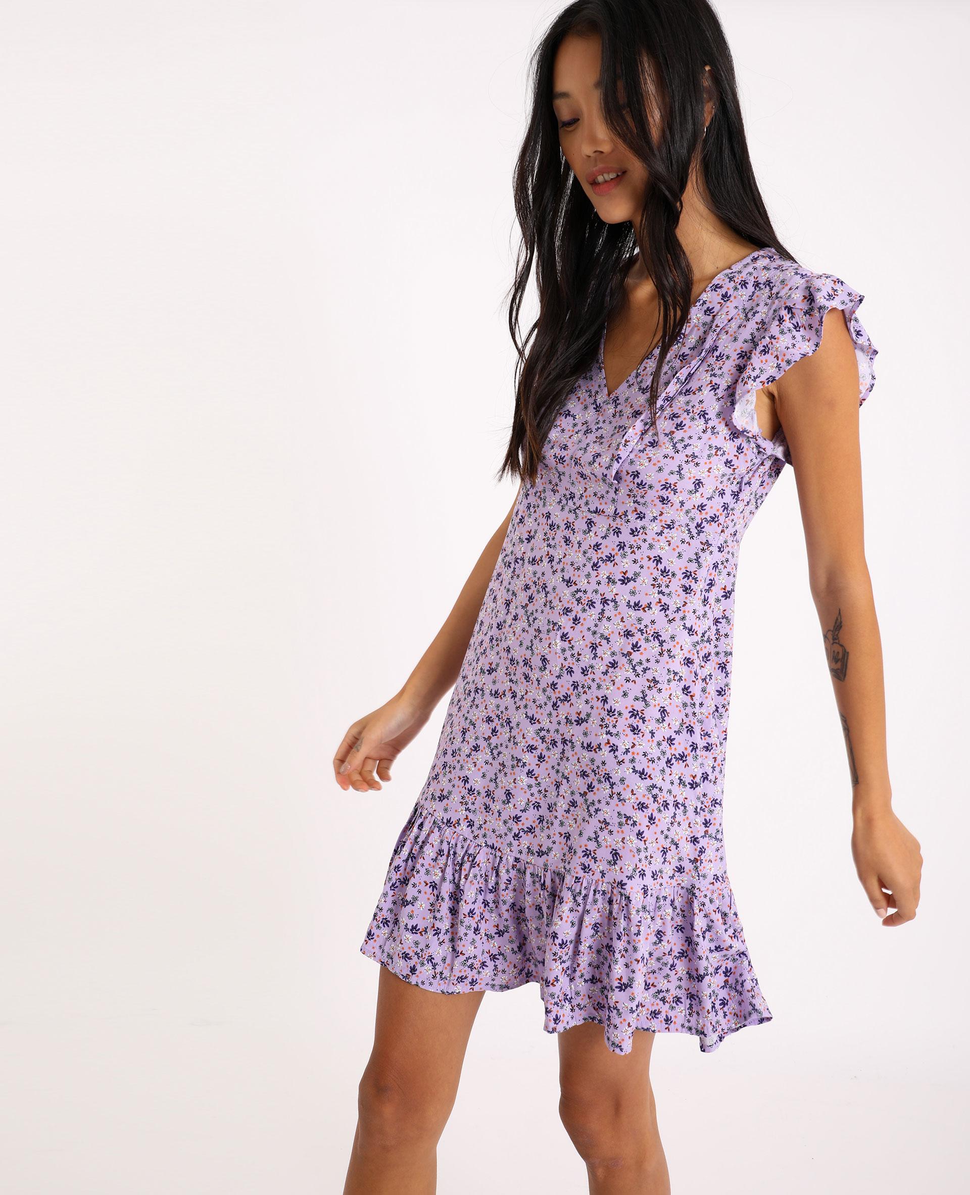 Robe à fleurs lilas - Pimkie