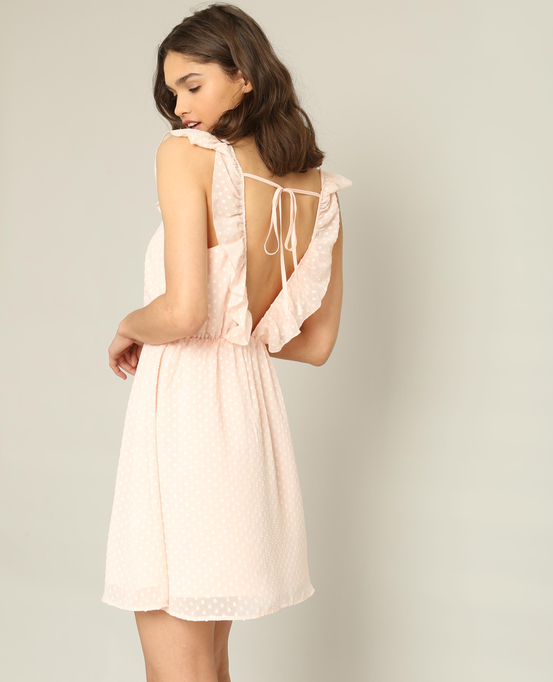 Robe en plumetis rose pâle - Pimkie