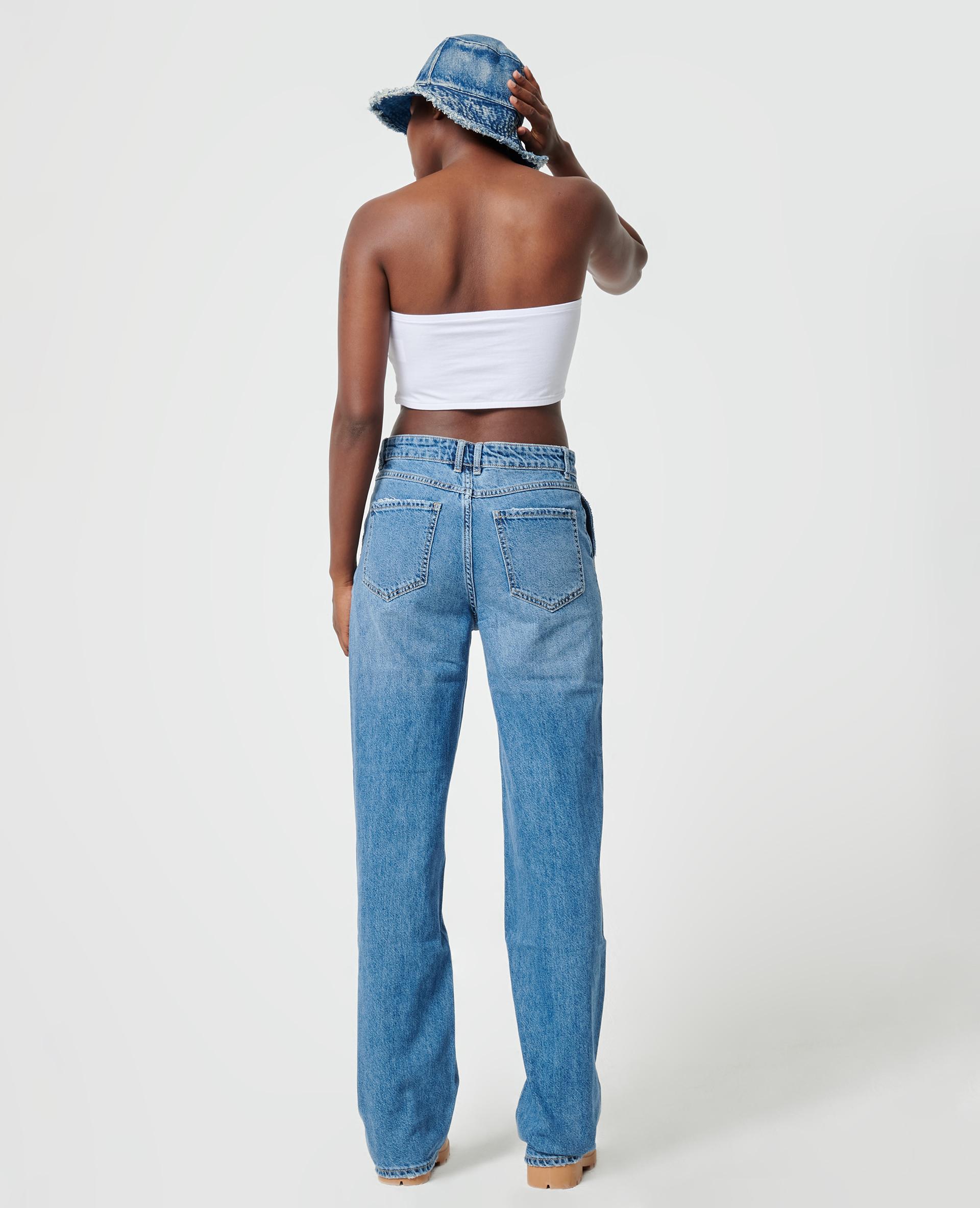 Jean baggy taille basse bleu denim - Pimkie
