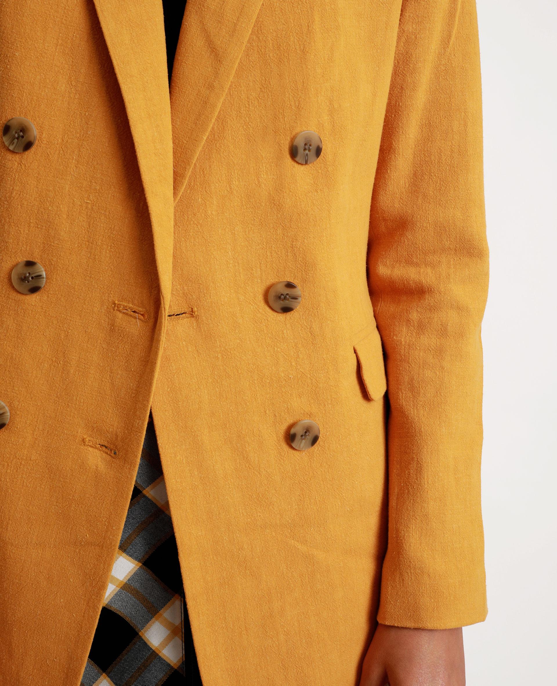 Blazer double boutonnage jaune - Pimkie
