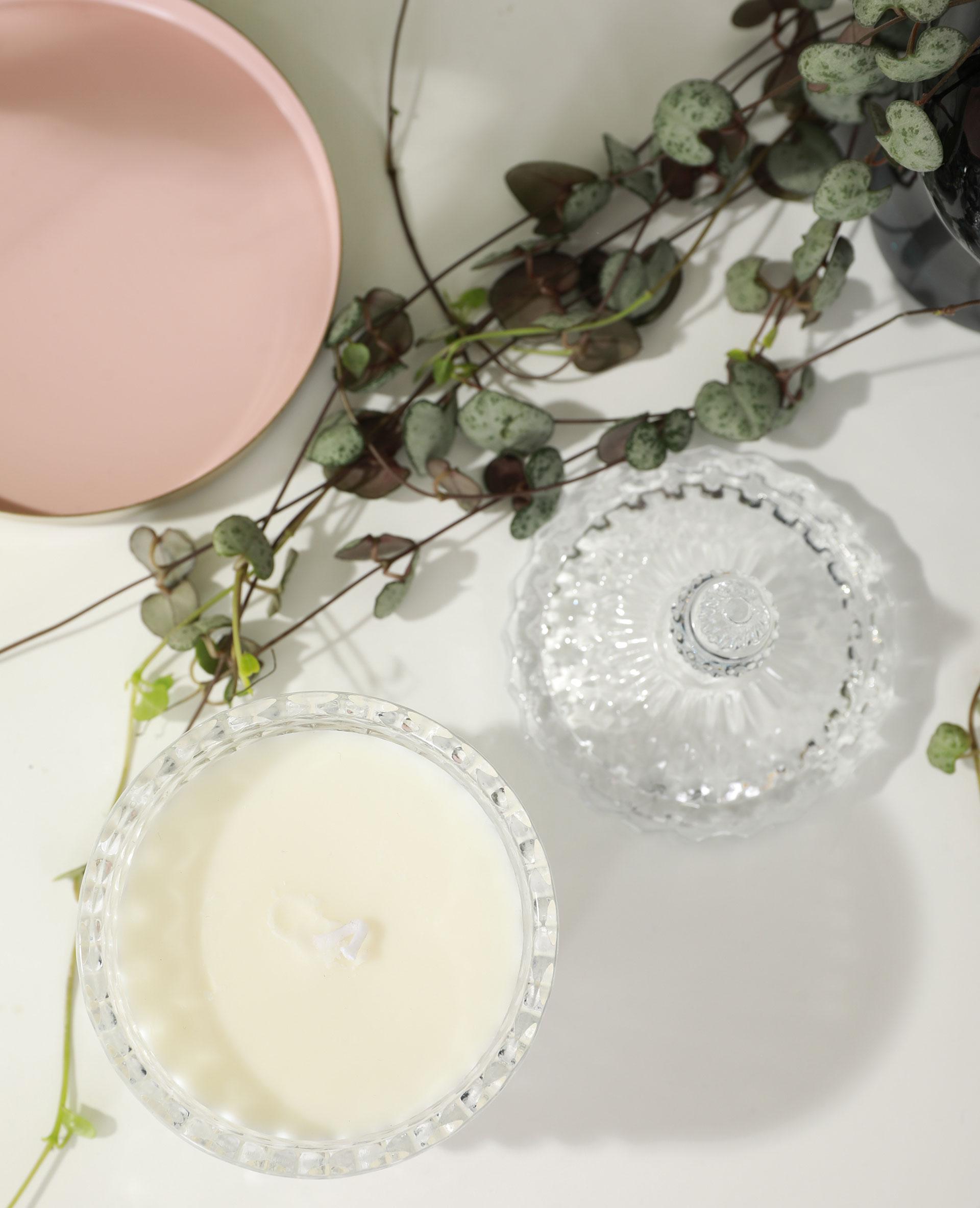 Bougie baroque blanc cassé - Pimkie