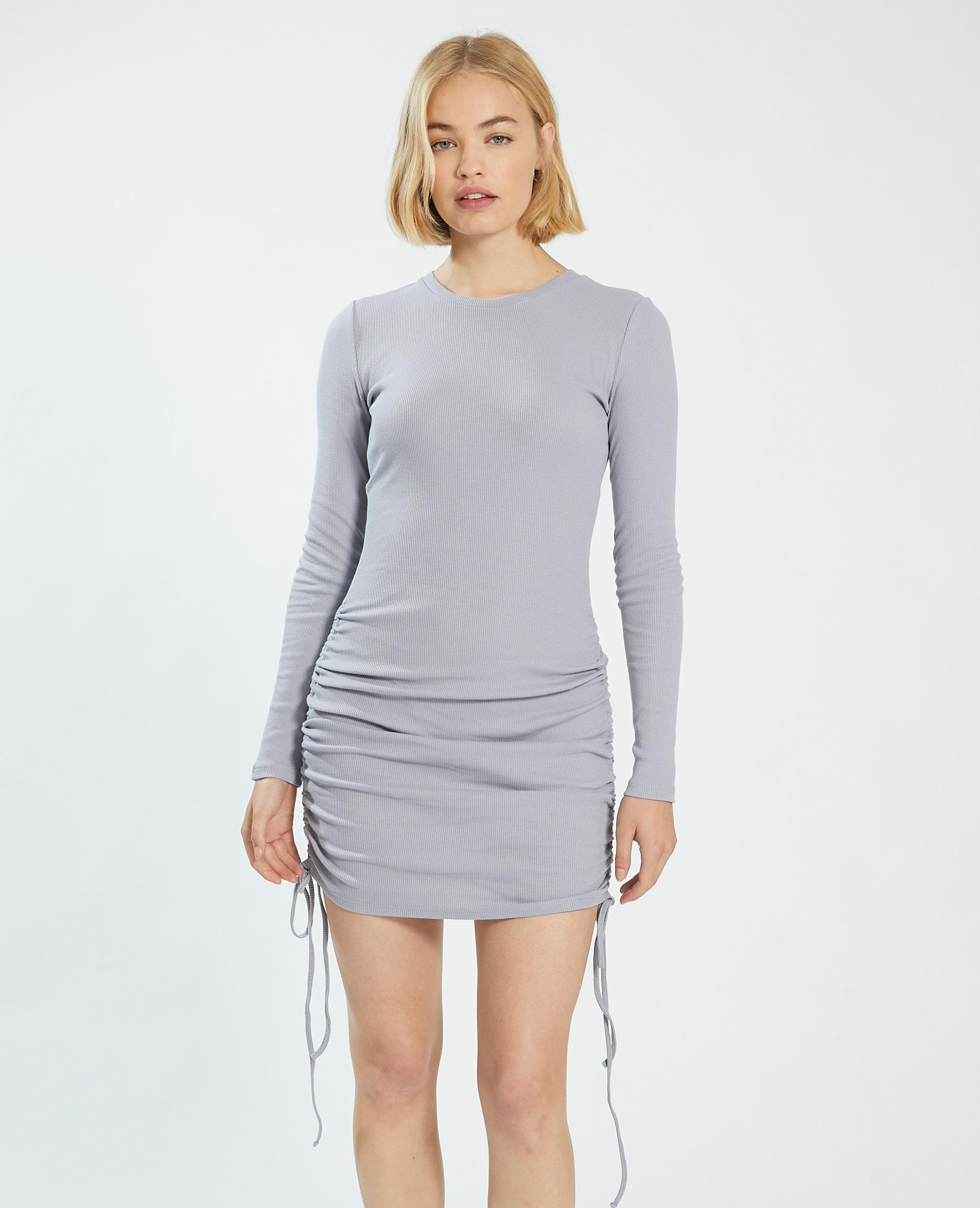 Robe côtelée gris - Pimkie